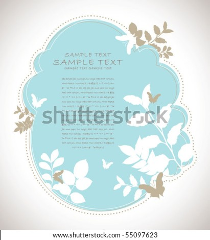 retro abstract flora background 01
