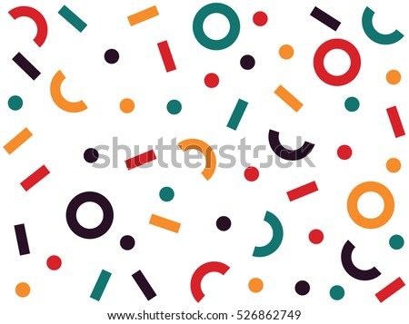 Retro abstract pattern in geometric style. Classic color with geometric figures. - Shutterstock ID 526862749