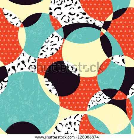 Retro abstract seamless pattern. EPS 10 vector illustration.