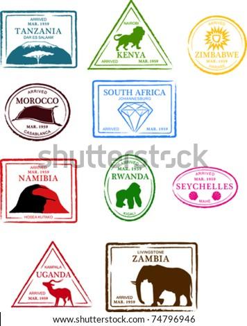 retro african set of fun