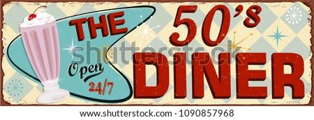 Retro American Diner posters. Stock photo ©