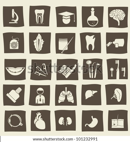 retro anatomical icons