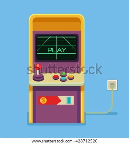 retro arcade game machine