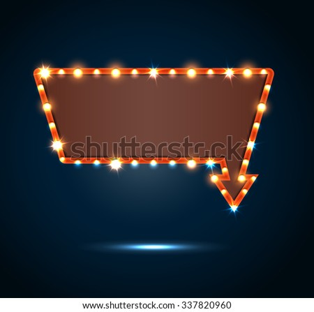 Retro arrow with space for text blue background.vector #337820960