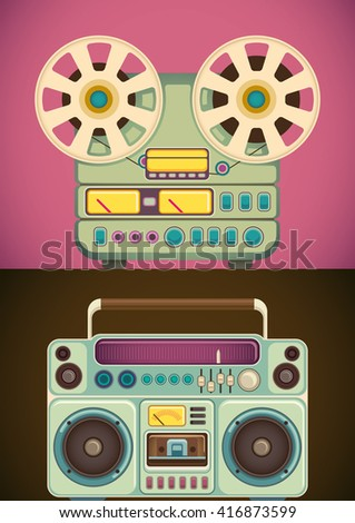 retro audio and music equipment