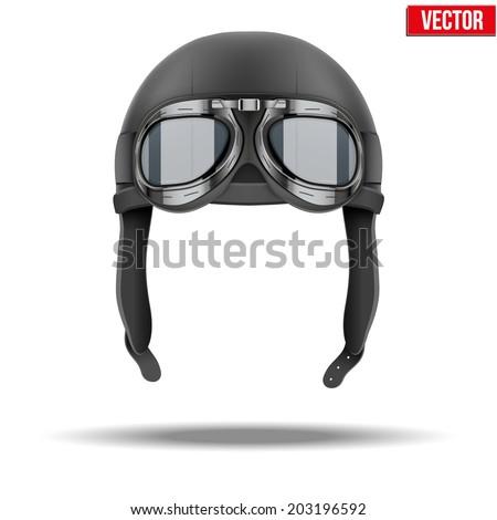 retro aviator pilot leather
