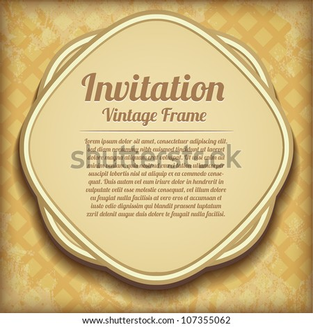 Retro background. Old paper greeting card - stock vector