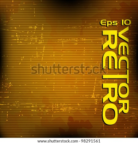 retro background with dark brown line pattern . - stock vector
