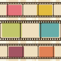 Retro background with film strips