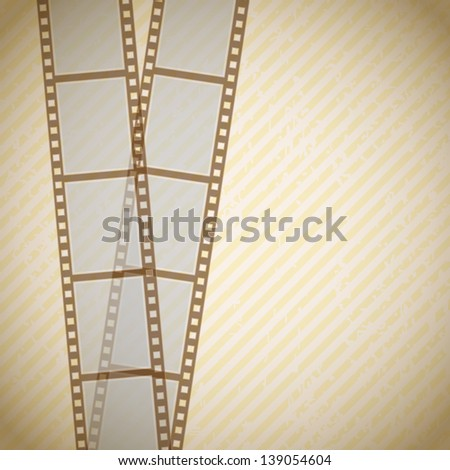 retro background with filmstrip