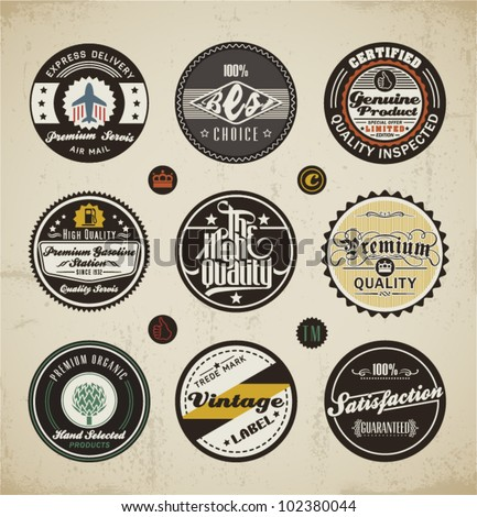 Retro Badges and Labels set.