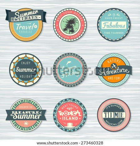 retro badges for your design on