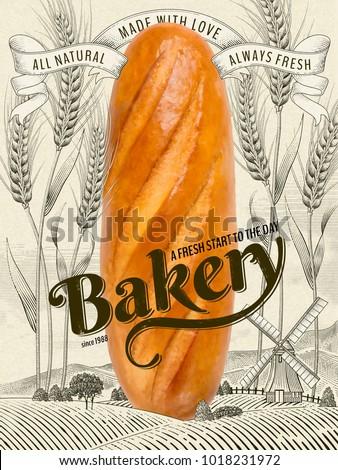 retro bakery ads  delicious