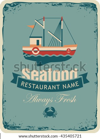 retro banner for a restaurant...