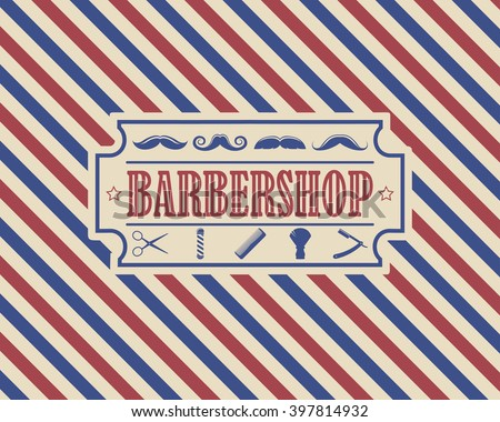 Retro Barber Shop Vintage Design Template