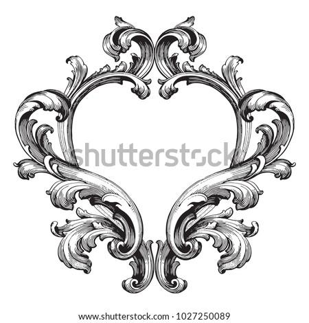 retro baroque decorations...