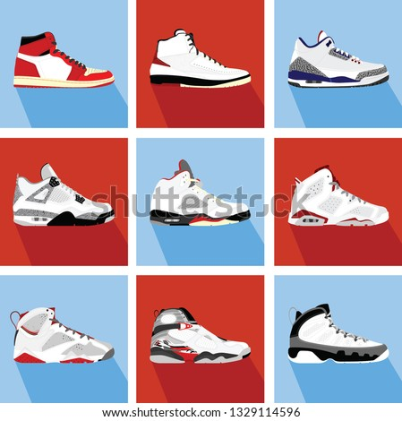 retro basketball sneakers collection