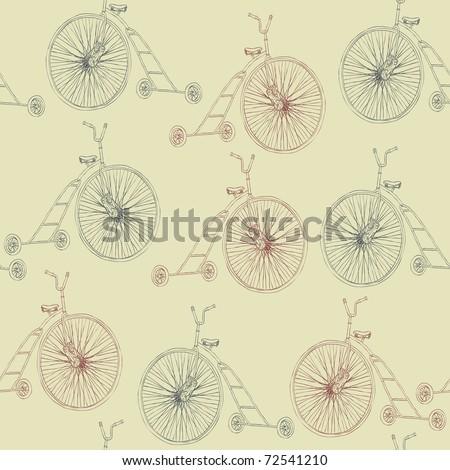 retro bicycle background