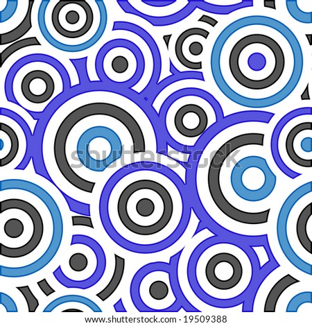 Retro black and blue seamless circle background