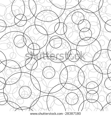 Retro black and white seamless circle background