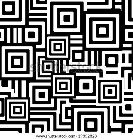 Retro black and white seamless rectangles background