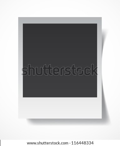 Retro blank photography with a black place for your image in a photo album page. EPS10 vector