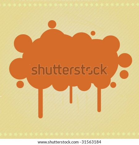 Retro Blot Vector Design Banner - stock vector
