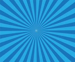 retro blue background ray. blue background in pop art style.