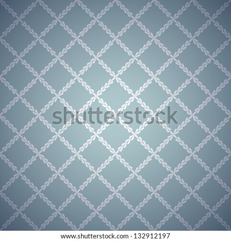 Retro blue cloth texture background. Vector illustration for your vintage design. Book and wall cover. Fabric canvas wallpaper with delicate striped pattern.