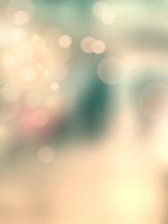 Retro bokeh lights - soft vintage background - abstract blurred urban scene