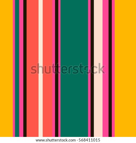 Retro Bright Colorful seamless stripes pattern. Abstract vector background. Stylish colors.