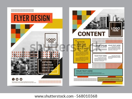 brochure templates with abstract retro designs download free
