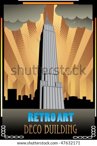 retro building vector illustration