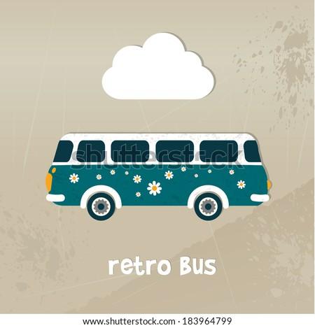 retro bus concept paper vintage ...