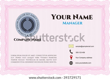 Retro Business Card. Customizable, Easy to edit and change colors. Good design. With background.