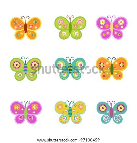 stock-vector-retro-butterflies