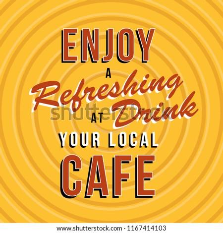 Retro cafe sign #1167414103