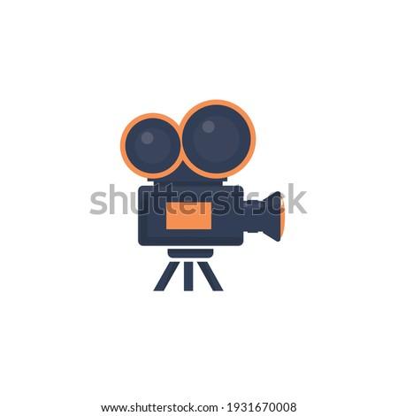 Retro camera in a flat style