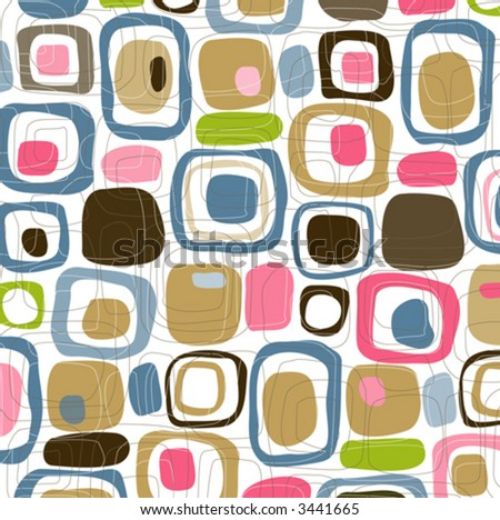 Retro Candy Squares (Vector) Spot illustration of stylish, retro squares. All  squares complete so you can move them around! Easy-edit vector file--No transparencies or strokes!