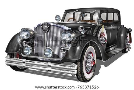 retro car isolated.