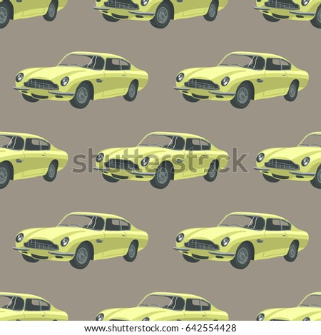 retro car pattern with classic