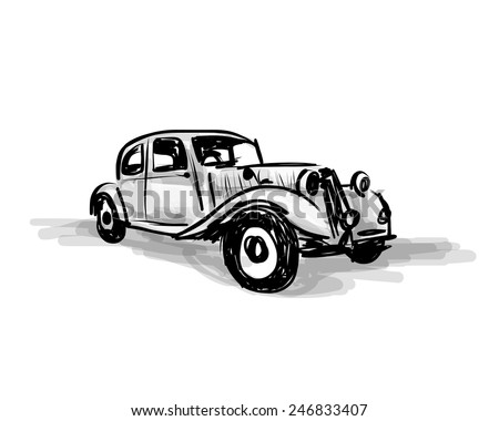 stock-vector-retro-car-sketch-for-your-design-vector-illustration