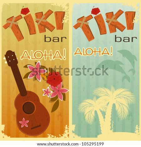 retro cards for tiki bars
