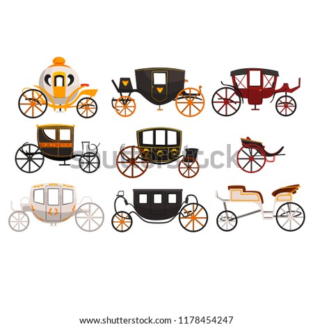 stock-vector-retro-carriages-set-vintage-transport-brougham-cab-wagon-for-traveling-wedding-carriage-vector
