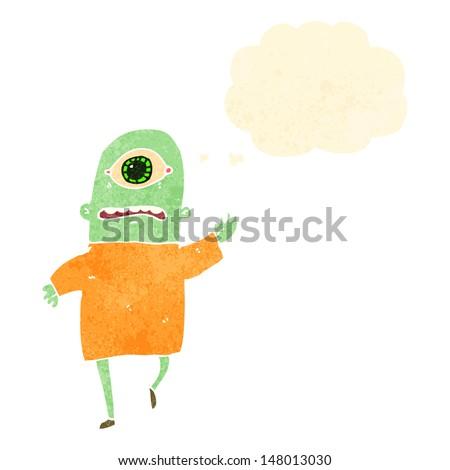 retro cartoon alien