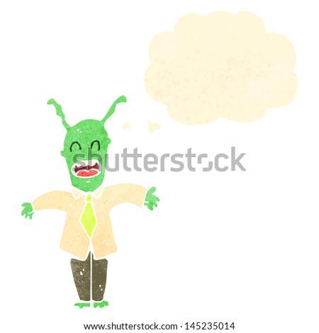 retro cartoon alien spaceman