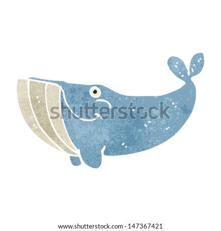 retro cartoon whale