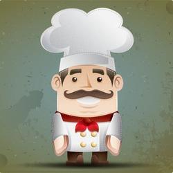 Retro chef doll.
