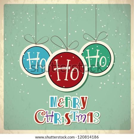 Retro Christmas background. Vector illustration