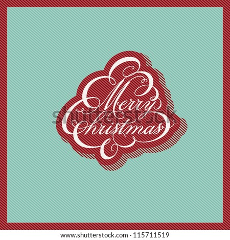 Retro Christmas design. Vector illustration.